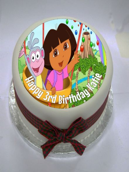 Dora the Explorer Edible Cake Topper